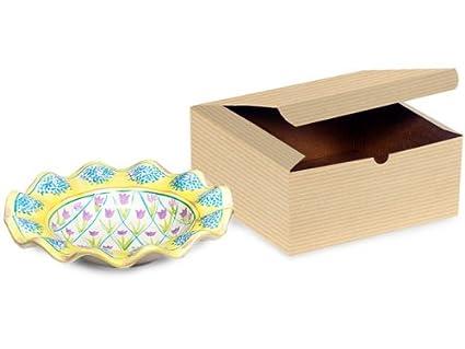 Cajas de regalo de harina de avena 8 x 8 x 3.5 100% reciclado a