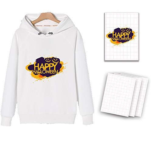 A4 T-Shirt Transfers Heat Transfer Sheets Paper for Inkjet Printers, for Light Fabric 8.27