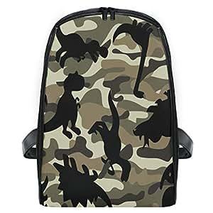 ZZXXB Dinosaur Camo Backpack Kids Toddler Child Preschool Kindergarten Waterproof Book Bags Travel Daypack for Boys and Girls