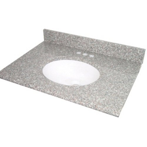 22' White Bowl (Pegasus PE31664 31-Inch Montero Granite Vanity Top with White Bowl and 8-Inch Spread)