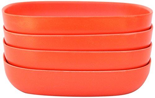 Orange French Bowl Set (Biobu [by Ekobo] Gusto Pasta/Salad Bowl Set (4 Pack),)