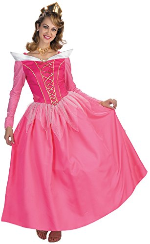 [UHC Women's Disney Princess Pink Aurora Prestige Halloween Themed Costume, One Size (Up To 14)] (Cheap Adult Disney Princess Costumes)