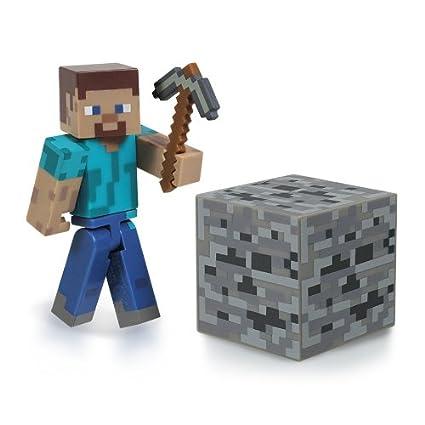 amazon com minecraft core steve figure pack toys games