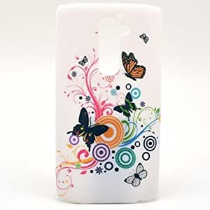 Special White Butterflies Pattern Hard Protective Case for LG G2/D802