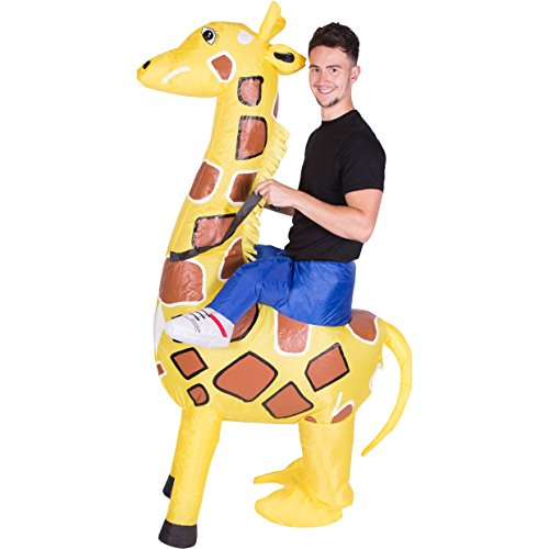 Bodysocks Adult Inflatable Giraffe Fancy Dress Costume