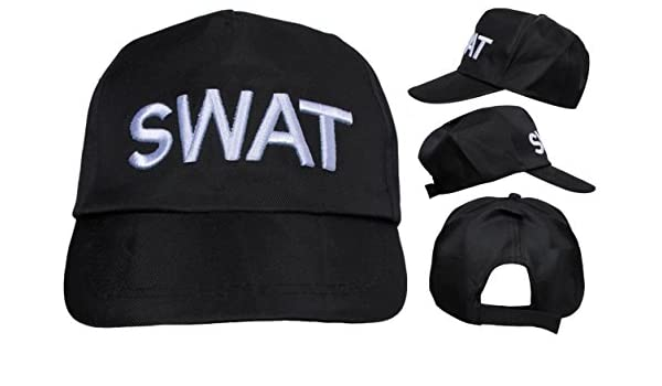 Adulto SWAT Sombrero Para Disfraz ajustable POLICE Gorra Béisbol ...