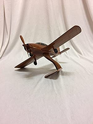 Piper Cherokee Replica Airplane Model Hand Crafted with Real Mahogany Wood