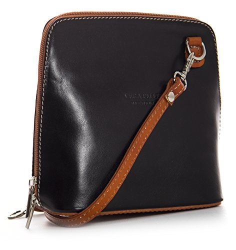 Big Handbag Shop, Borsa a tracolla donna One Black - Tan