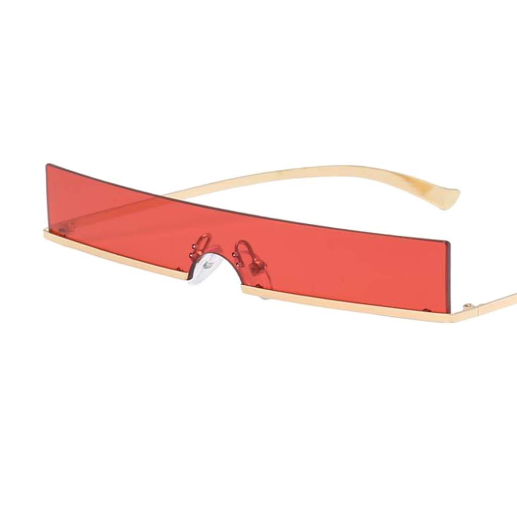 d88e795457 IPOTCH Femme Homme Sport Lunettes de Soleil Polarisé Protection UV Super  Léger Cadre Petit Rectangle