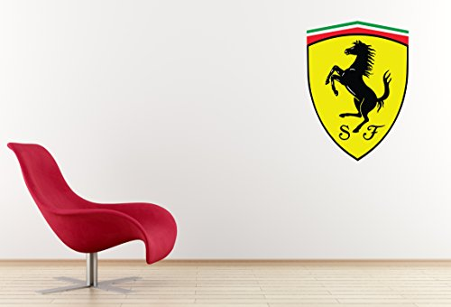 Ferrari Logo Wall Decal Sticker (Large: 24