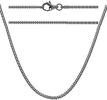 1.8MM Solid 925 Sterling Silver Italian POPCORN CHAIN Necklace Made in Italy