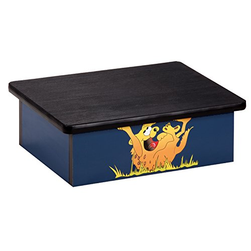 Pediatric Equipment - 20'' x 16'' x 7'' Laughing Hyena Blue Laminate Pediatric Step Stool - CL-10-H by Miller Supply Inc