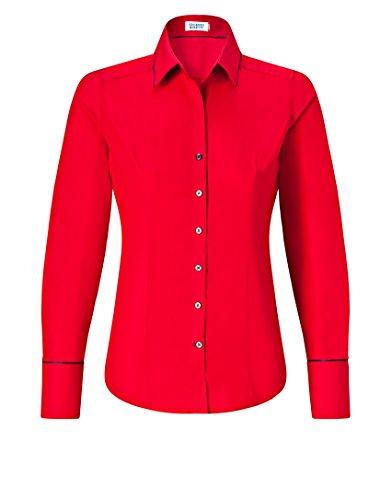 Chemisier 4 Vincenzo Classique Boretti Col Femme Manches Chemise rouge Longues AnfqUw5Px