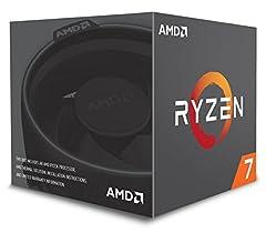 AMD Ryzen 7 2700 Processor with Wraith Spire LED Cooler. Maximum Temperature 95 degree Celsius.