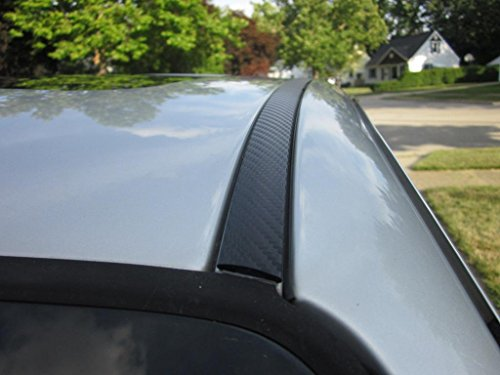 (2 Piece Carbon Fiber Side Roof Molding Overlay Trim)