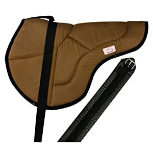 Best Friend Eastern Style Bareback Saddle Pad, Brown with Black, Child