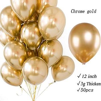 Amazon.com: Globos metálicos de látex con perla brillante de ...