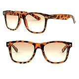 Wayfarer Magnification RX Strength Bifocal Glasses Gradient Tinted Lens Sunglasses +1.00D +1.50D +2.00D +2.50D +3.00D (Tortoise, 1.25 x)