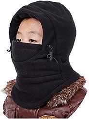 XTACER Kids Balaclava Winter Windproof Thick Warm Hat Ski Cover for Boys Girls Children Neck Gaiter