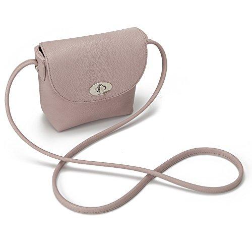Crossbody Pink Pouch Leather Purse Faux DAVIDJONES Mini Coin Women's OIYEq8