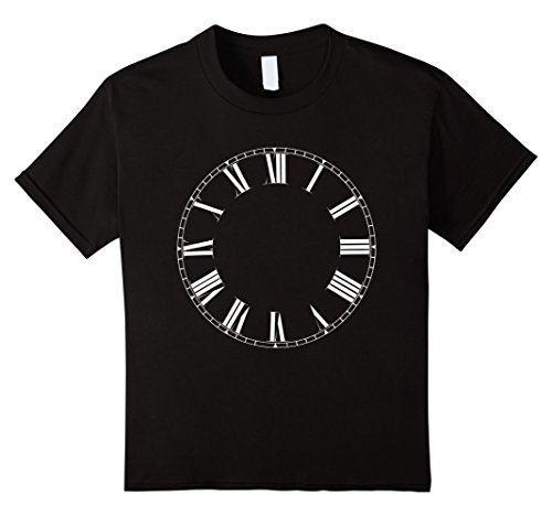 Time Graphic Tee (Kids Watch T-Shirt Clock Roman Numerals Time Graphic Tee 8 Black)