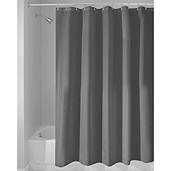 Eforcurtain Solid Color Charcoal Microfiber Bath Curtains For Men And Women Home Decorative Classic Shower