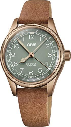 Oris Big Crown Bronze Pointer Date Green Dial Automatic Ladies Watch 01 754 7749 3167-07 5 17 66BR Big Crown Pointer Date Watch