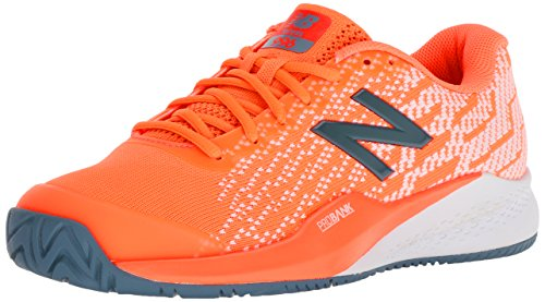 New Balance Women's 996v3 Hard Court Tennis Shoe, Orange, 9 B US
