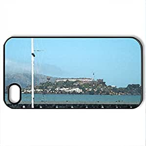 Alcatraz Prison - Case Cover for iPhone 4 and 4s (Watercolor style, Black) wangjiang maoyi
