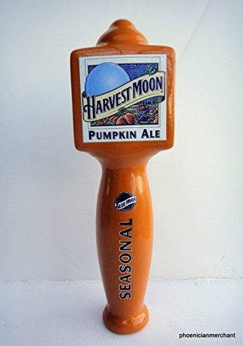Blue Moon Harvest Moon Pumpkin Ale Seasonal Ceramic Large 3 Sided Pub Beer Keg Tap Lever Knob Handle - Ale Tap Knob