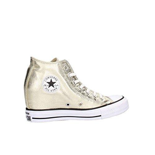 Converse - Converse All Star Scarpe Zeppa Interna Oro Ct Lux Mid Gunmetal Oro