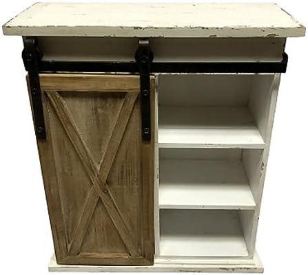 Amazon com: WI Sliding Barn Door Distressed Wood Storage Cabinet