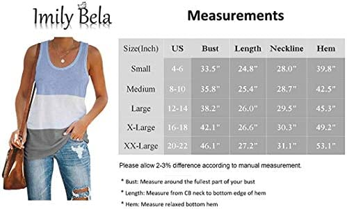 Imily Bela Womens Workout Color Block Tank Tops Racerback Yoga Basic Summer Casual Tee Shirt 4