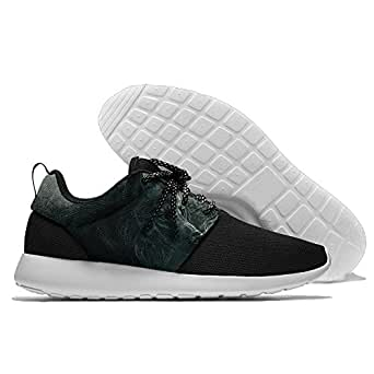 Black White Wolf Men's Mesh Running Shoes Sneakers Casual Athletic Workout Fitness Sports Shoes Trainers 45