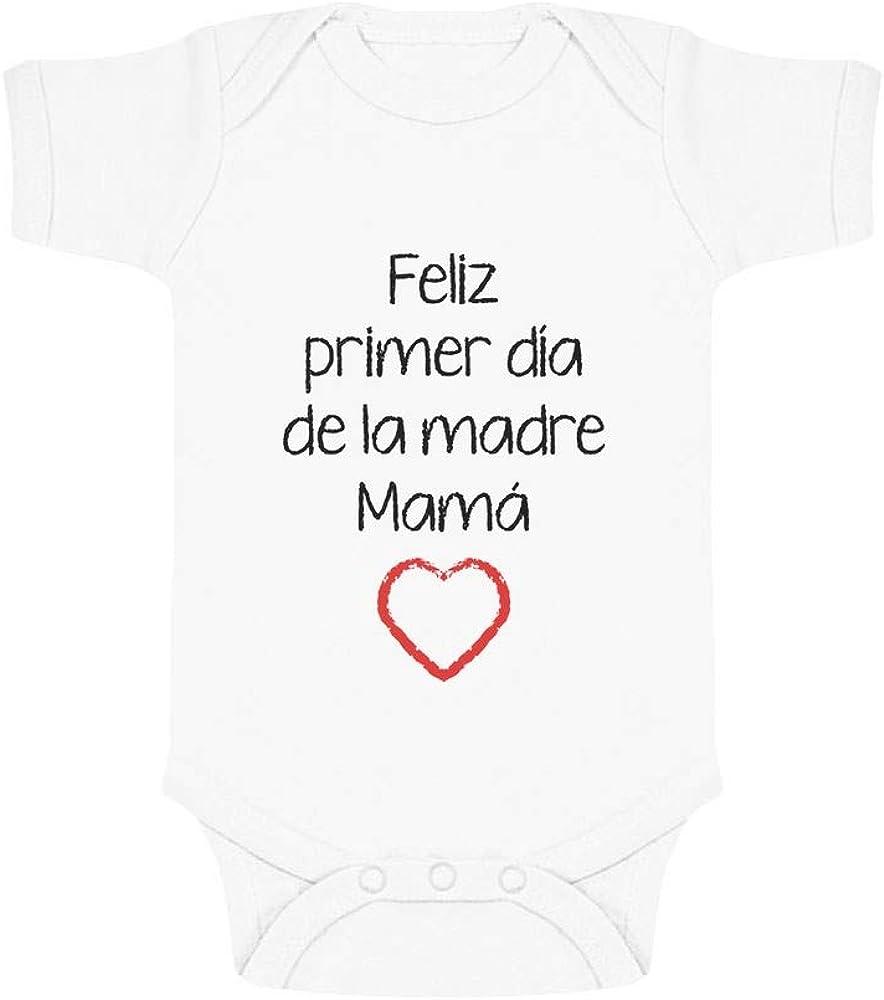 Feliz Primer D/ía de la Madre Body de Manga Corta para beb/é para Mam/á en su D/ía
