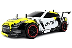 -Manufactured by Velocity Toys-High performance ~15 MPH motor-Rechargeable lithium-ion battery included-PRO 2.4GHz radio control system -Race multiple cars in the same area interference free-Big 1:10 scale size -Full function controls allow c...