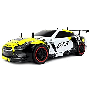 Velocity Toys GT3 Racer Exotic Supercar Remote Control RC Car 2.4 GHz Control System, High Speed 15+ MPH, High Performance Lithium Battery, Big Size 1:10 Scale RTR (Colors May Vary) - 41Q9lISgKTL - Velocity Toys Remote Control 2.4 GHz 1:10 Scale RTR GT3 Racer Supercar with Lithium Battery