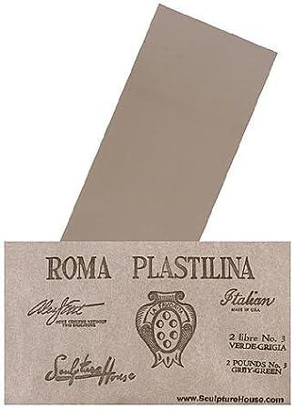 2 Medium Sculpture House Roma Plastilina Modeling Material gray-green No