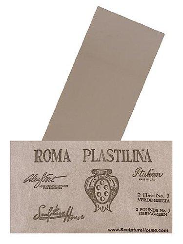 Sculpture House Roma Plastilina Modeling Material gray-green No. 2 - Medium