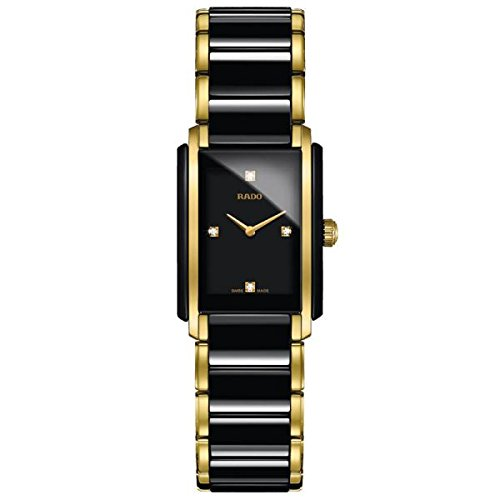 (Rado Integral Jubile Two-tone Black Ceramic and Gold Womens Watch - R20845712)