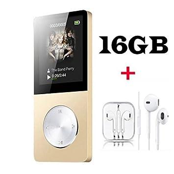 Reproductor de música MP3/MP4 Ancool (R) 16 GB portátil , e-book, visor de fotos, calendario, alarma, protector de pantalla, altavoz externo, color ...