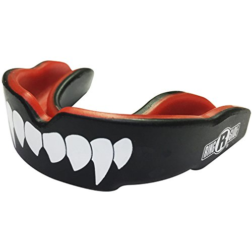 WARRIOR MOUTHGUARDS Sport Mouth Guard El Diablo Red Fangs Free Storage Case