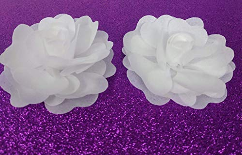 Edible Rice Paper Flowers for Cake Decoration, Set of two, Medium Size, multiple petals. (Flower Paper Rice Edible)