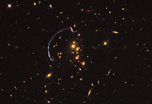 Gravitational Lensing Hi Gloss Space Poster Fine Art Print