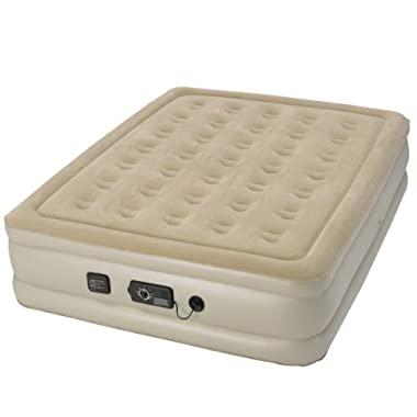 Serta Raised Queen Air Mattress with Never Flat Pump