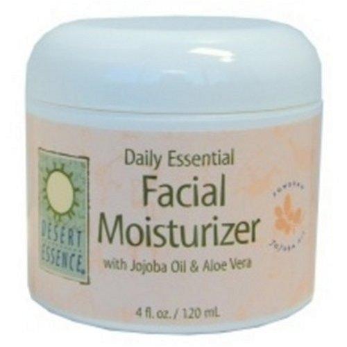 Desert Essence Facial Moisturizer, Daily Essential, With Jojoba Oil & Aloe Vera, 4-Ounces (Pack of 3) ()