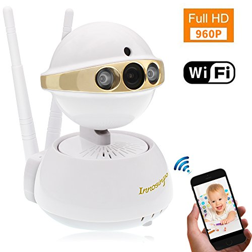 960P Indoor Wireless Security Surveillance Camera Home Baby Pet Monitor with Pan/Tilt Night Vision Motion Detection Alerts Two-Way Audio and Remote Viewing (Ios Ip Complete Package)