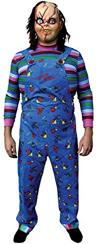 Men's Chucky Child Play 2 Theme Party Outfit Adult Halloween Costume, One Size ()