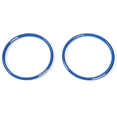 (RT-TCZ Dashboard Console Instrument Display Cover Ring for Ford Mustang 2015 2016 2017 Pair)