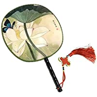 Attractive Chinese Round Fan Classical Dancing Dan With Beautiful Pattern, #18